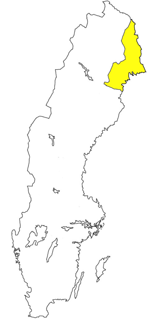Norrbotten Norrland Schweden Sverige Landschaft Umriss