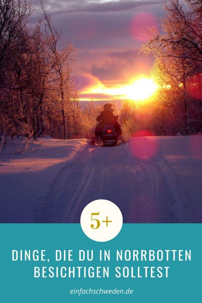 Norrbotten Schweden Landschaft Norrland Scooter Winter Schnee