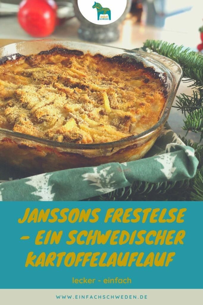 Ein sehr beliebtes Gericht in der schwedischen Küche, vor allem zu besonderen Anlässen, ist Janssons Frestelse. Ein Kartoffelauflauf mit Anschovis. #einfachschweden #janssonsfrestelse #schwedischeküche